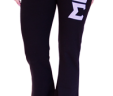 """Yoga Pants With 3"""" Twill Sewn on Greek Letters on Front Left Leg"""