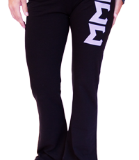 "Yoga Pants With 3"" Twill Sewn on Greek Letters on Front Left Leg"
