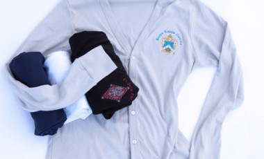 American Apparel Cardigan w/Embroidered Crest