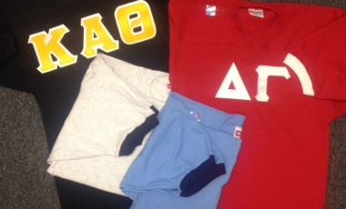 Unisex Fraternity Jersey with Sewn on Greek Letters