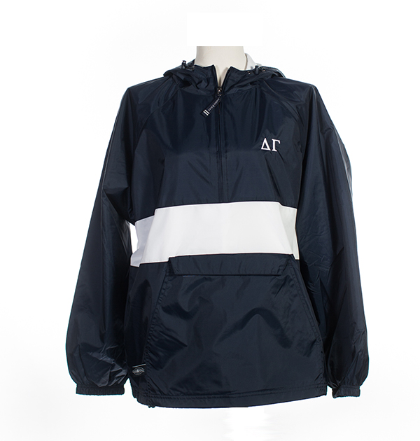 "Nylon Pullover ""Single Stripe"" Jacket by Charles River Apparel"